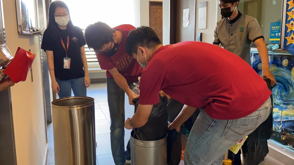 CAPTains having handson experiences at the trail _Housekeeping_